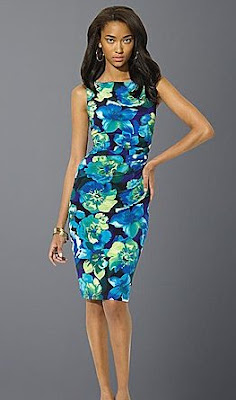 LAUREN BY RALPH LAUREN Floral Matte Jersey Dress