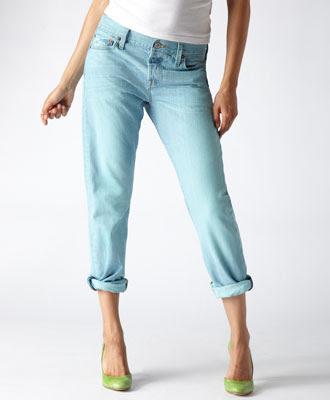 Boyfriend Cut Jeans Aqua Sky