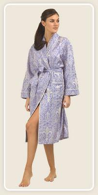 Lavender Fleur de Lis Luxe Robe 1X