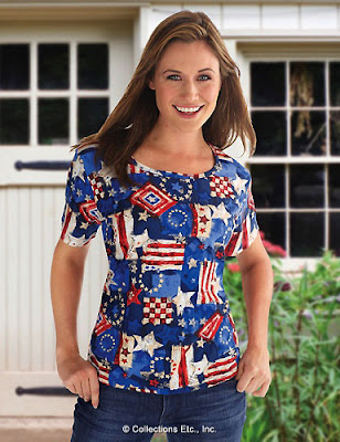 Women's Patriotic Americana Shirt