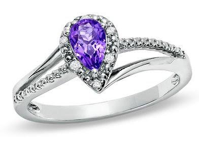 Pear-Shaped Amethyst Ring