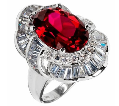 Vivian's Ruby CZ Cocktail Ring