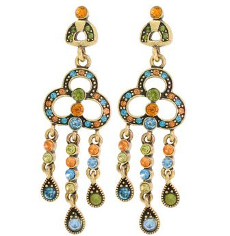 Multicolor Dangling Chandelier Earrings