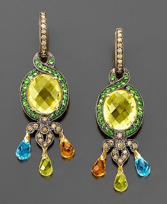 Le Vian 14k Gold Multistone Earrings