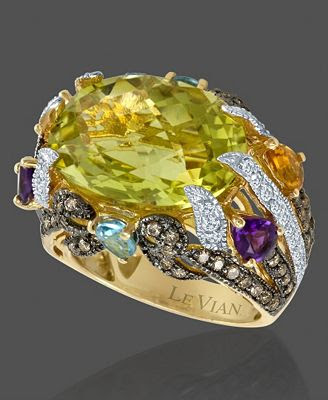 Le Vian 14k Gold Lemon Quartz Ring