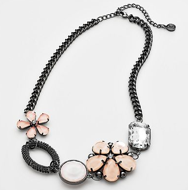 Simply Vera Vera Wang Jet-Tone Floral Necklace