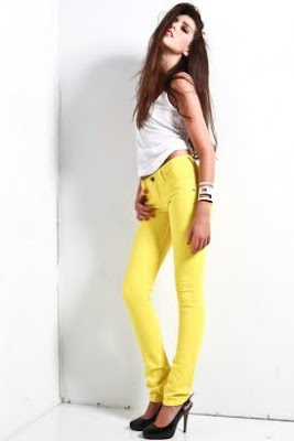 Women's Skinny Denim - Yellow