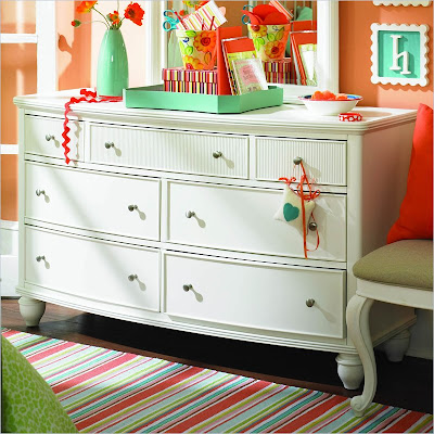 Lea Elation Double Dresser in Off-White