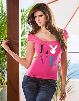 LOVE Playboy Scoop Tee
