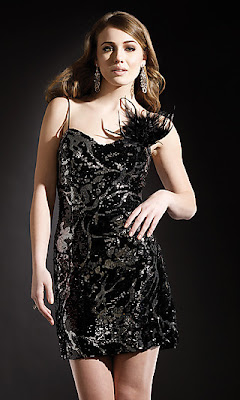 Black and Silver Sequin Covered Dress