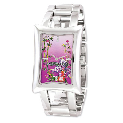 Women's Ed Hardy Divine Orchid Watch