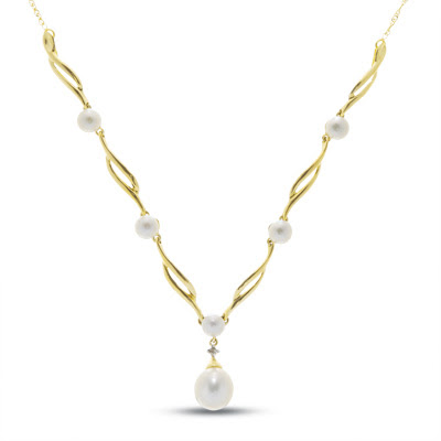 Cultured Freshwater Pearl Swirl Necklace