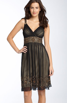 Patra Beaded Silk Chiffon Dress