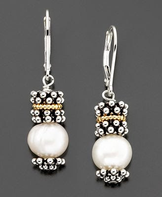 Gold & Sterling Silver Cultured Freshwater Pearl Earrings
