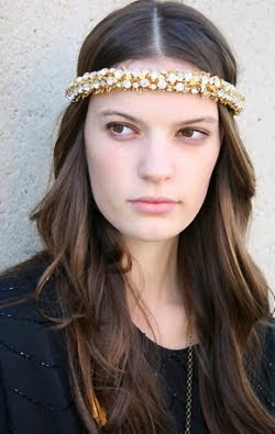 Victorian Hippie Sparkle Head Piece