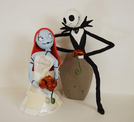 Nightmare Before Christmas Wedding Cake Toppers