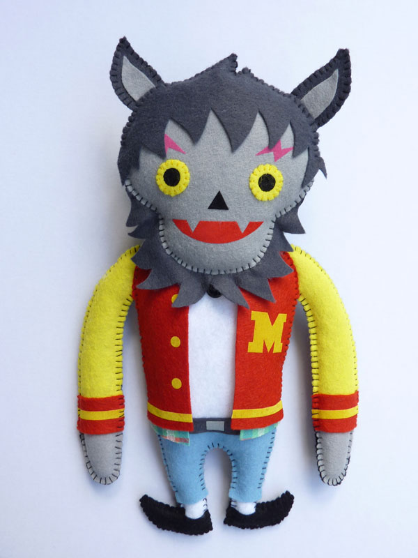 Plush Michael Jackson as the werewolf from Thriller