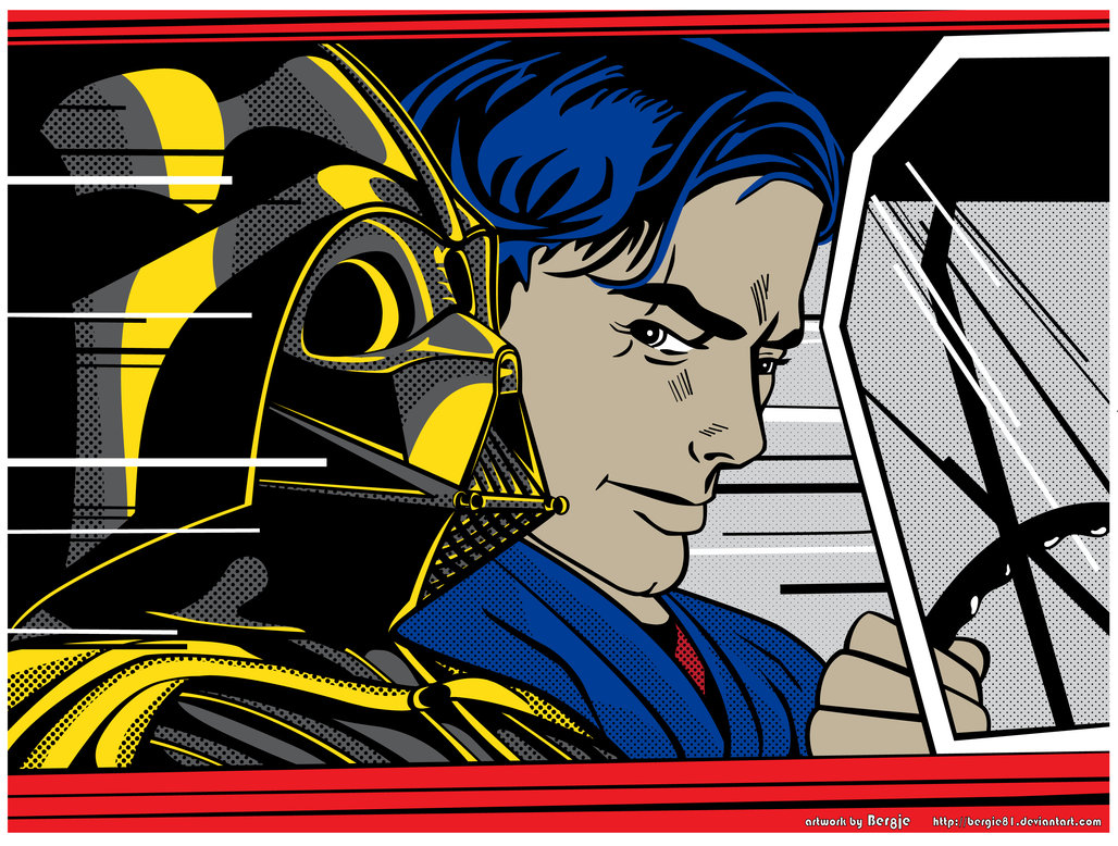super punch roy lichtenstein inspired star wars art. Black Bedroom Furniture Sets. Home Design Ideas