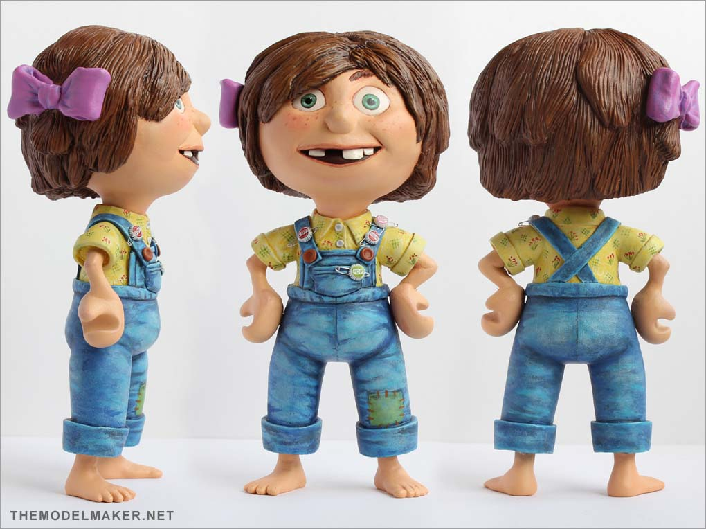 toycutter young ellie sculpture by michal miszta pixars up