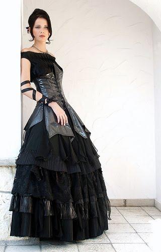 Red Gothic wedding dresses