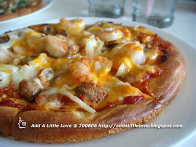 Shrimp Mushroom Pizza
