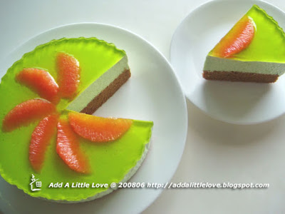 Chocolate Green Tea Cheese Cake