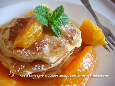 Lovely Orange Pancakes