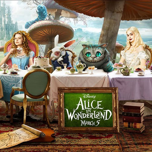 During The Weekend We Went To Cinema And Saw 3D Movie Alice In Wonderland Story Is Simple But Tea Party Scene Quite Interesting