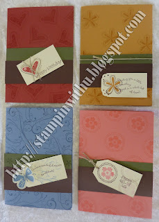 Stamped Bakground Cards