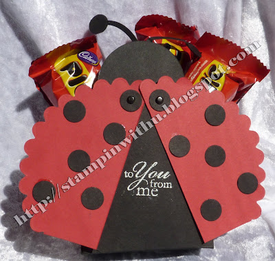 Lady Bug Box - Lg Big Shot Scallop Circle Die