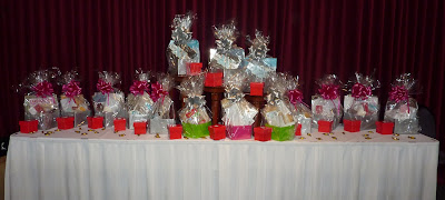 Raffle Table for Fresh Inspiration PaperANGELS Event Preparation