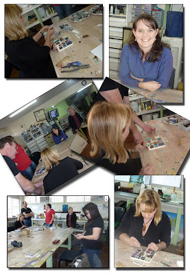 Dichroic Jewellery Class Collage
