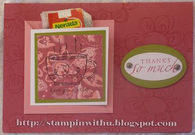 Arty Farty Tea Party Thank you Card