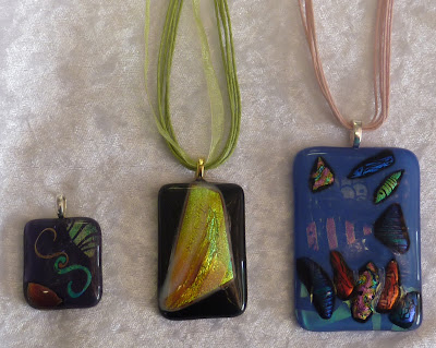 Dichroic Glass Pendants pic 3