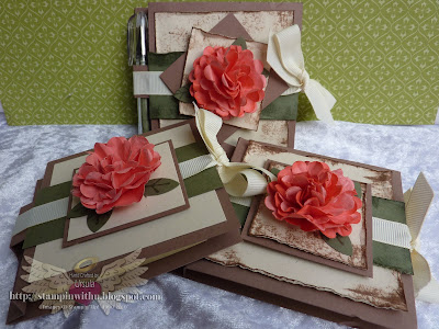 Sticky note holders with Scallop Circle Punch flower