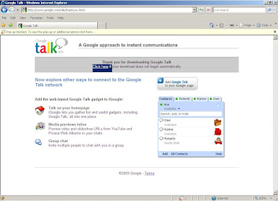 Google Talk download and installation