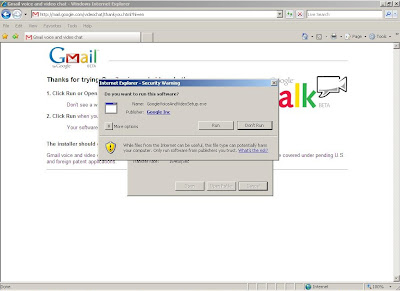 Google Voice and Video ready to run the installation after the download.