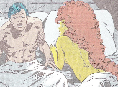 Nightwing and Starfire.