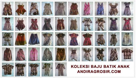 Baju Batik Anak Kecil Perempuan Koleksi Baju Batik Anak