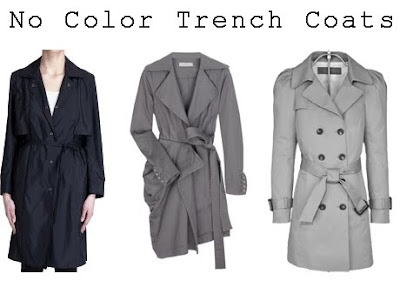 No Color Trench Coats