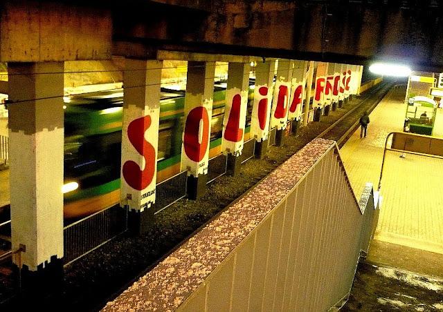 Patriotyczny mural - Solidarność