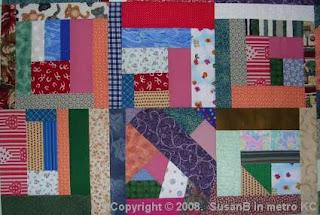 Mile-a-Minute quilt block detail