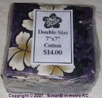package of purple squares