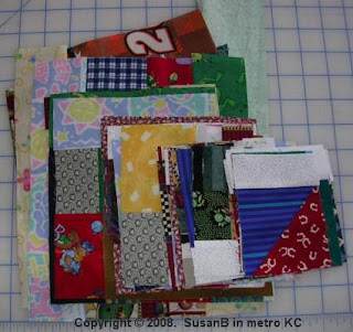 mile-a-minute quilt blocks in progress