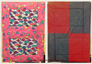 quick quilt - front and back