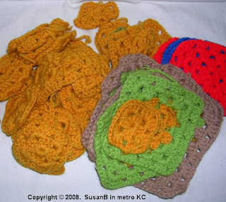 unfinished granny squares