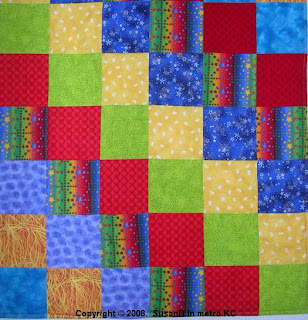 Snuggle Up quilt top detail