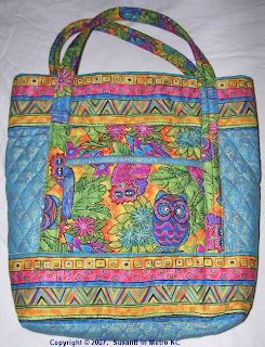 multicolor tote bag