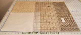 cutting a large fabric square