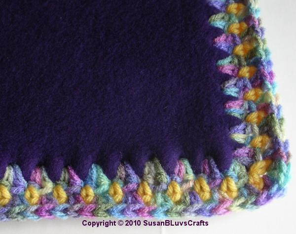 Crocheting Edging On Fleece : CROCHET EDGING FLEECE BLANKET - Crochet - Learn How to Crochet